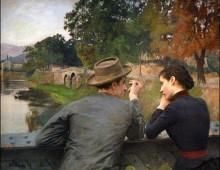 La semplicità dell'amore, Les amoureux di Emile Friant