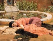 """Il sospiro del riposo: """"Dolce far niente"""" di J.W. Godward"""