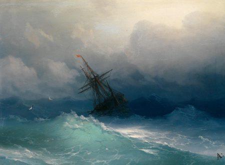 """La bellezza terribile della """"Nave nel mare in tempesta"""" di Ivan Konstantinovič Ajvazovskij"""