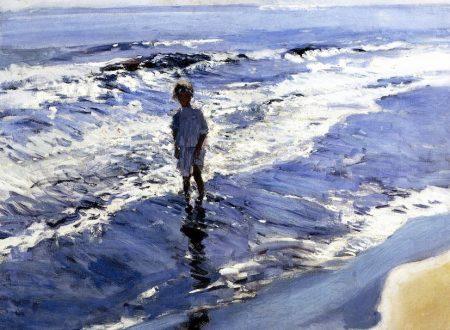 Bambina nel mare argentato di Joaquín Sorolla y Bastida