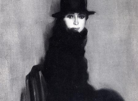 """Le infinite variazioni del nero """"Signora con cappello"""" di Ambrogio Alciati"""