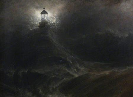 """La luce che resiste ne """"Il faro di Eddystone nella tempesta"""" di William Daniell"""
